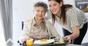 Aide à domicile d'une personne agée