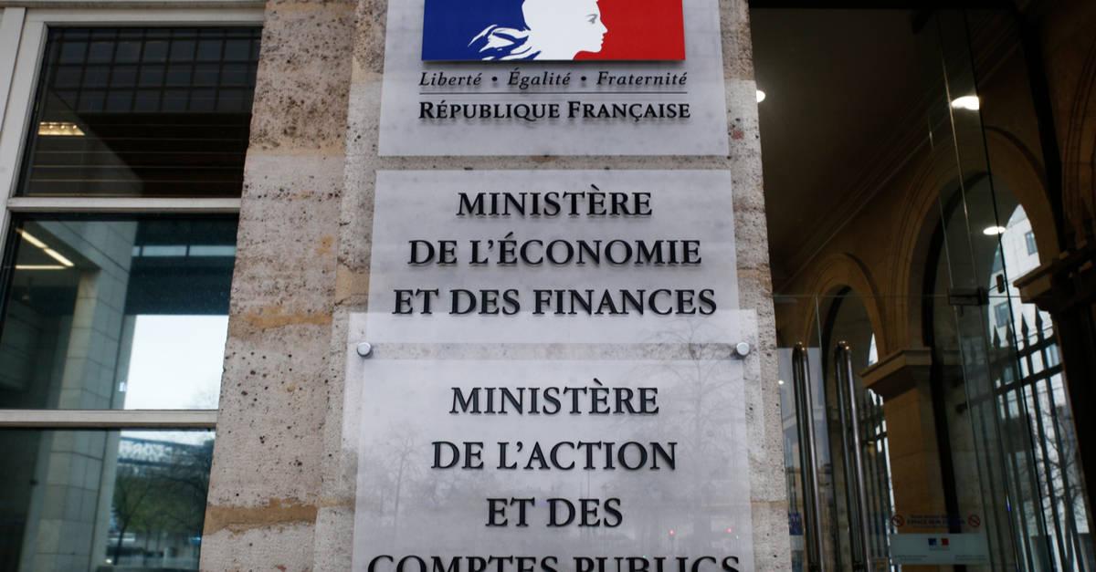Entrée du Ministere de l'économie et des finances