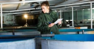 inspection de bassins d'aquaculture