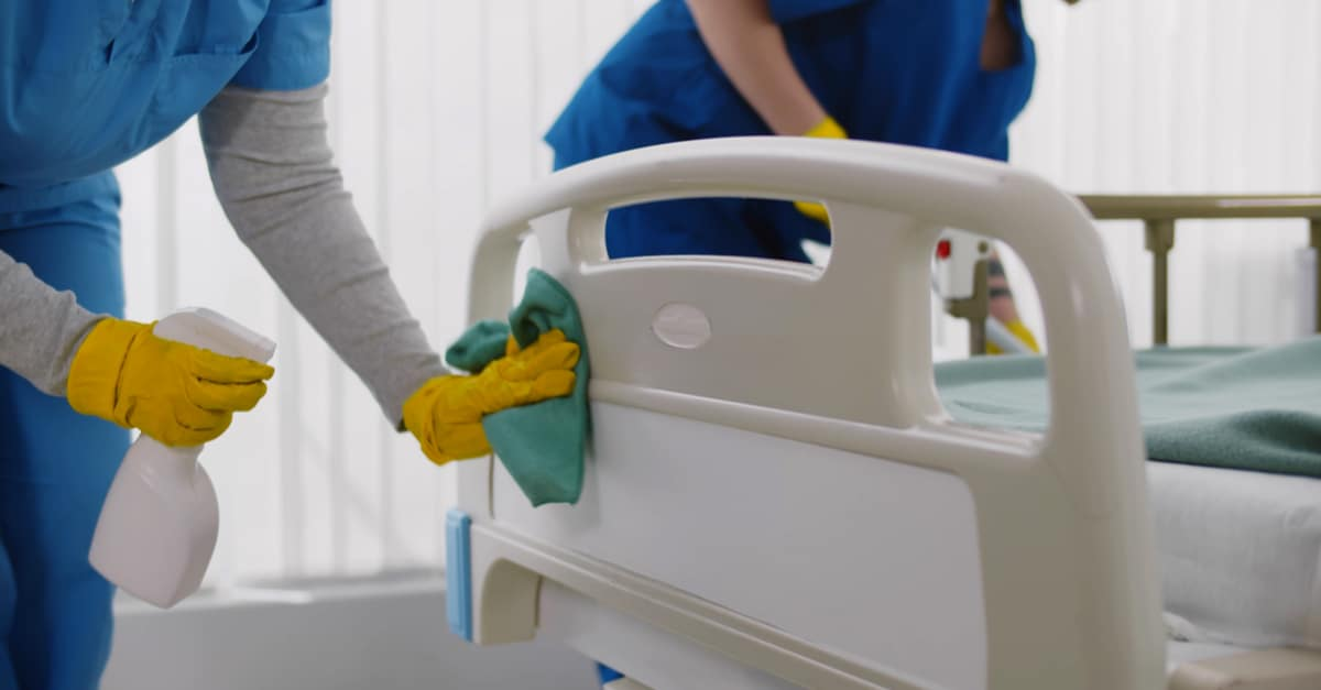 Nettoyage dans un hopital