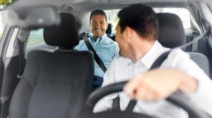 Chauffeur personnel et son passager