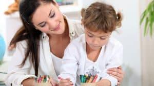 Apprentissage à un enfant