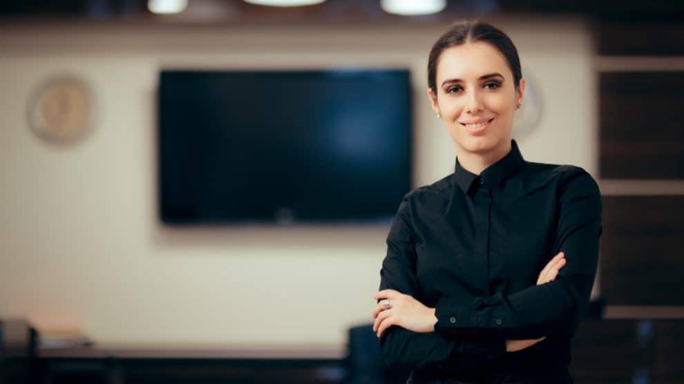 Femme dans une entreprise