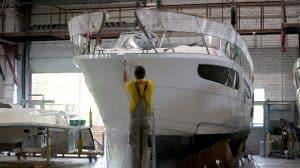 Réparation d'un bateau