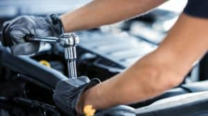 Réparation d'une voiture
