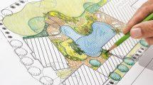 Schéma aménagement d'un jardin